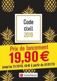 Code civil 2019 - Ananas: Prix de lancement jusqu'au 31/12/2018, 40.00 ¤ à compter du 01/01/2019