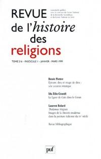 Revue de l'histoire des religions, numéro 1