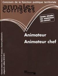 Animateur, animateur chef 2010-2011 - Catégorie B - filiere animation