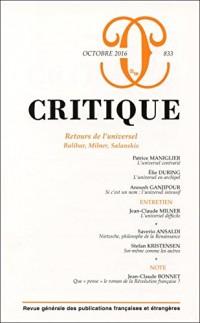 Critique N 833