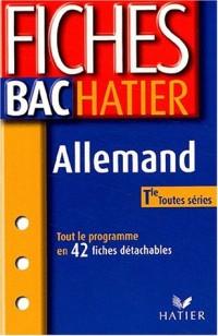 Fiches Bac Hatier : Allemand, terminale, toutes séries