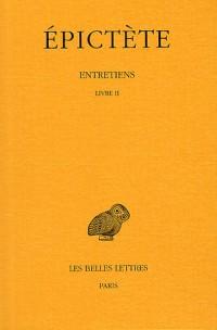 Entretiens, tome 2 : Livre II, 2e tirage