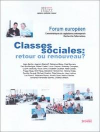 Classes sociales : Retour ou renouveau ?