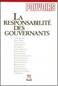 Responsabilité des gouvernants