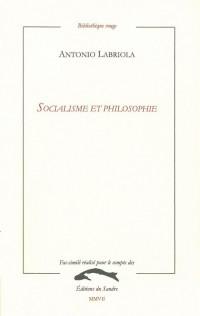 Socialisme et philosophie