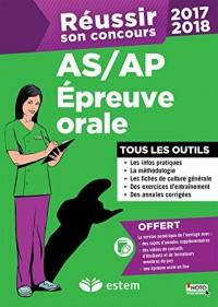 Réussir son concours AS/AP 2017-2018 - Épreuve orale - Tous les outils