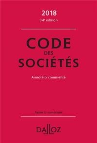 Code des sociétés 2018, annoté et commenté - 34e éd.