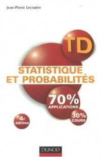 Statistique et probabilités : Travaux dirigés