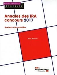 Annales des IRA concours 2017 : Epreuves écrites