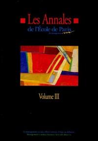 Les Annales de l'Ecole de Paris du management : Volume 3, Travaux de l'année 1996