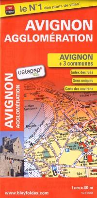 Avignon Agglomeration (84) - Plan de Ville - 1/8 000