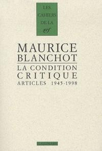 La Condition critique: Articles, 1945-1998
