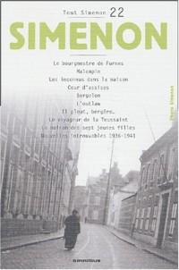 Tout Simenon, centenaire tome 22