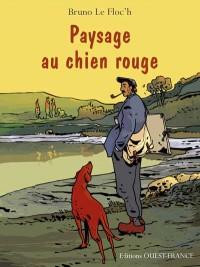 Paysage au chien rouge