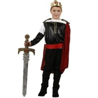 Déguisement roi Arthur costume médiéval enfant T.10-12 ans