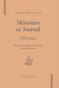 Mémoires et Journal : 1777-1867