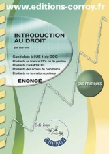 Introduction au droit UE 1 du DCG : Enoncé