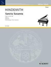 SCHOTT HINDEMITH PAUL - SANCTA SUSANNA - VOICE AND PIANO Partition classique Vocale - chorale Choeur et ensemble vocal