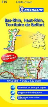 Michelin Map France: Bas-rhin, Haut-rhin, Territoire De Belfort 315