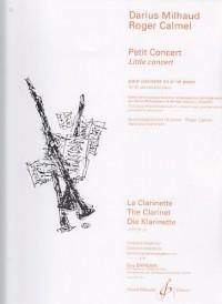 Petit Concert pour clarinette en si bémol et piano