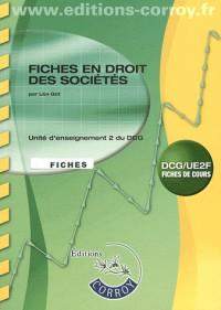 Fiches en Droit des Societes - Ue 2 du Dcg (Pochette)