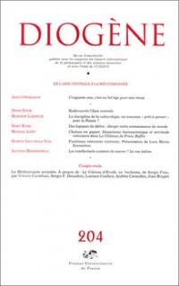 Diogène, numéro 204 - 2003 : De l'Asie centrale à la Méditerranée - Diversités culturelles, identités
