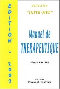 Manuel de thérapeutique