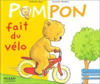 Pompon fait du vélo