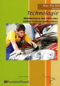 Technologie 2de Bac Pro Maintenance des véhicules Option voitures particulières