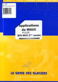 Applications de MGUC : BTS MUC 2e année