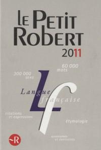 Petit robert langue française grand format 2011
