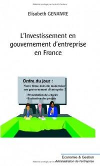Investissement en gouvernement d'entreprise en France