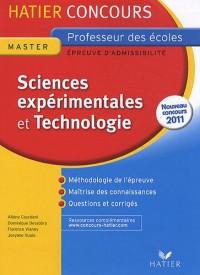 Sciences expérimentales et Technologie : Epreuve écrite d'admissibilité