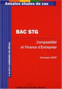 Annales BAC STG, comptabilité et finance d'entreprise