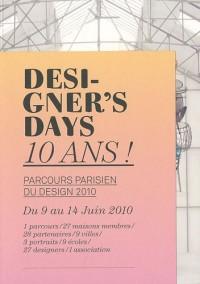 Designer's days 10 ans ! : Parcours parisien du design 2010