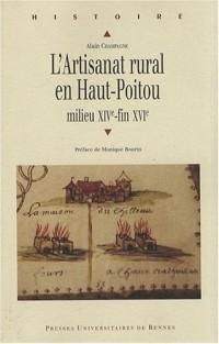 L'Artisanat rural en Haut-Poitou : Milieu XIVe-fin XVIe