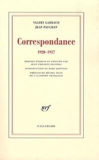 Correspondance: (1920-1957)