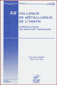 42e colloque de metallurgie de l'instn :materiaux machines