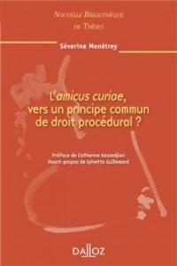 L'amicus curiae, vers un principe commun de droit procédural ? Volume 97: Nouvelle Bibliothèque de Thèses