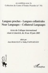 Langue proche - Langue collatérale : Near Languages - Collateral Languages