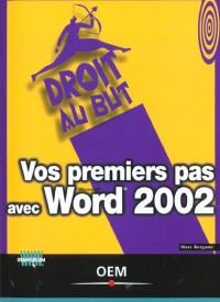 Vos premiers pas avec word 2002