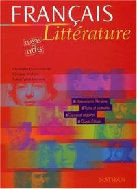 Français littérature, classes des lycées (Manuel)