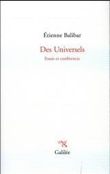 Des universels : Essais et conférences