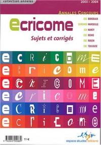 Ecricome : Concours 2003