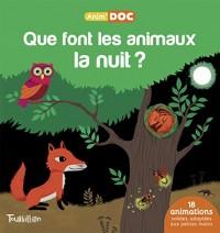 Que font les animaux la nuit ?