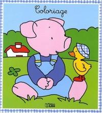Un coloraige sage comme une image : le petit cochon