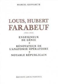 Louis Hubert Faraboeuf (1841-1910) : Enseigneur de génie, rénovateur de l'anatomie opératoire, notable républicain