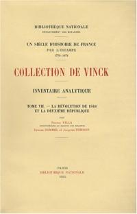 Inventaire analytique de la collection De Vinck : Tome 7, La Révolution de 1848 et la Deuxième République