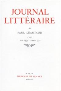 Journal littéraire. 1949-1956, tome 18