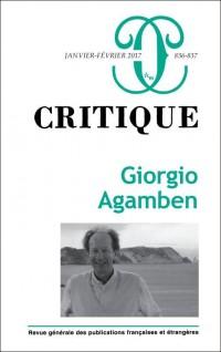 Critique N 836-837 Giorgio Agamben